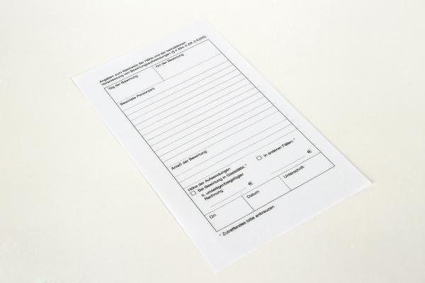 5000 Blatt Thermo-Bewirtungsbelege / Guestchecks 120 x 210